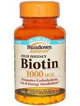 Sundown Naturals High Potency Biotin Review